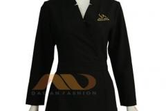 đồng phục áo đầm đen tay dài