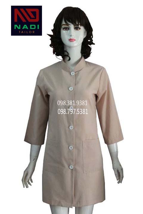Áo blouse nữ cách điệu tay lỡ màu kem ABM013