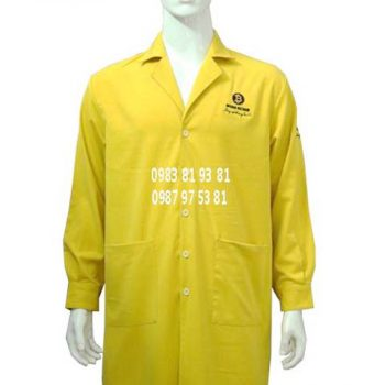 Áo blouse nam tay dài màu vàng ABM015