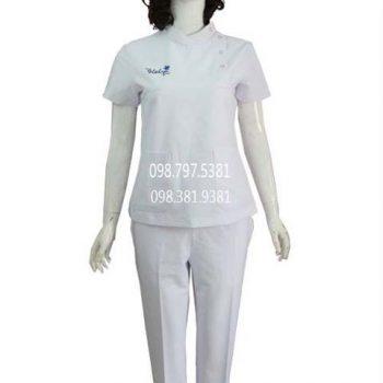 Áo blouse cổ trụ cài nút ABM028