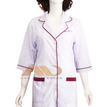Áo blouse trắng viền đỏ ABM029