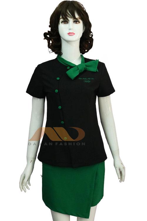 Đồng phục nhân viên xanh đen