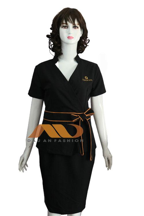 Đồng phục nhân viên đen nơ chéo