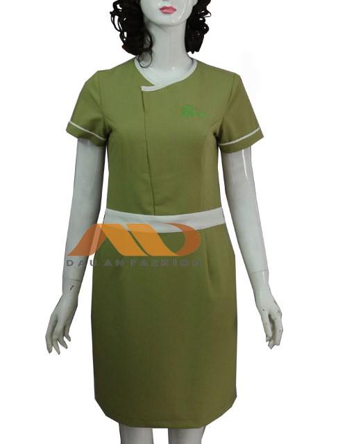 đồng phục spa màu xanh cốm