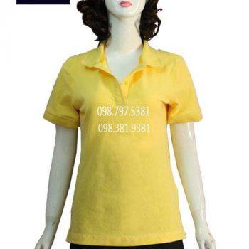 Áo thun nữ phục vụ nhà hàng vàng AT007