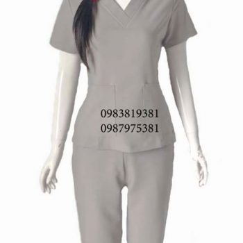 Đồng phục thẩm mỹ viện xám SPA009