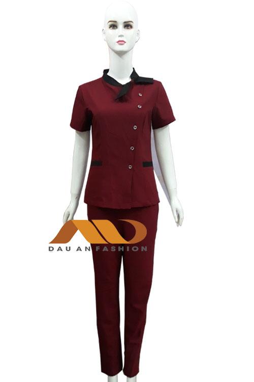 đồng phục màu đỏ đô QS0008