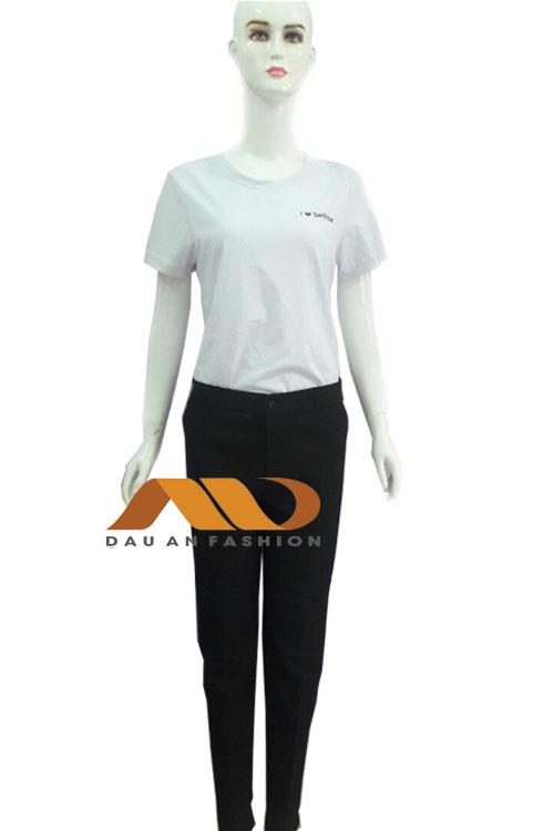 đồng phục nhân viên màu trắng