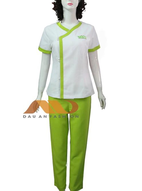 chất liệu đồng phục spa