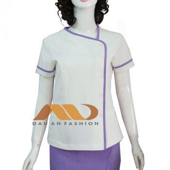 Đồng phục spa đầm màu tím