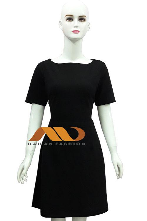 Đồng phục spa đầm màu đen