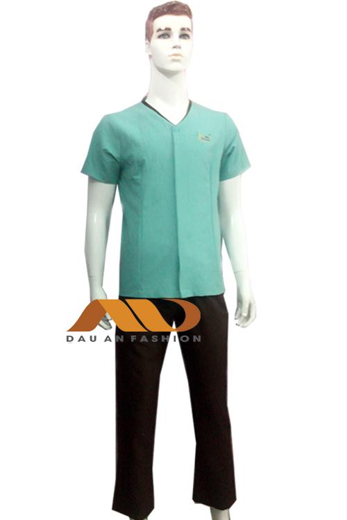 đồng phục nhân viên màu xanh da trời