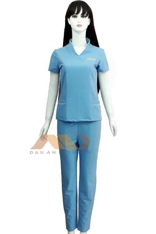 đồng phục nhân viên màu xanh
