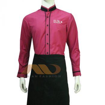 đồng phục nhân viên màu hồng
