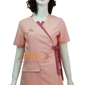 nhân viên spa nơ chéo màu hồng QS0045