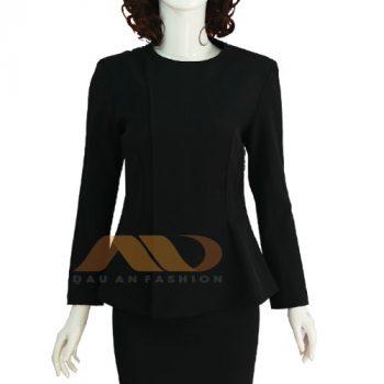 Đồng phục nhân viên váy đen tay dài