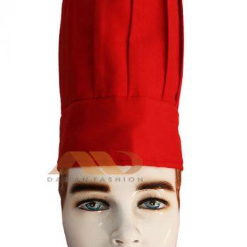 Nón bếp trưởng màu đỏ NB003