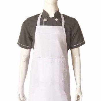 Tạp dề bếp toàn thân trắng may sẵn TD003