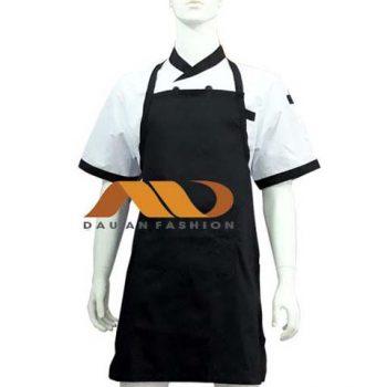 Tạp dề bếp toàn thân đen may sẵn TD001