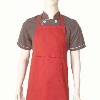 Tạp dề bếp toàn thân đỏ TD002