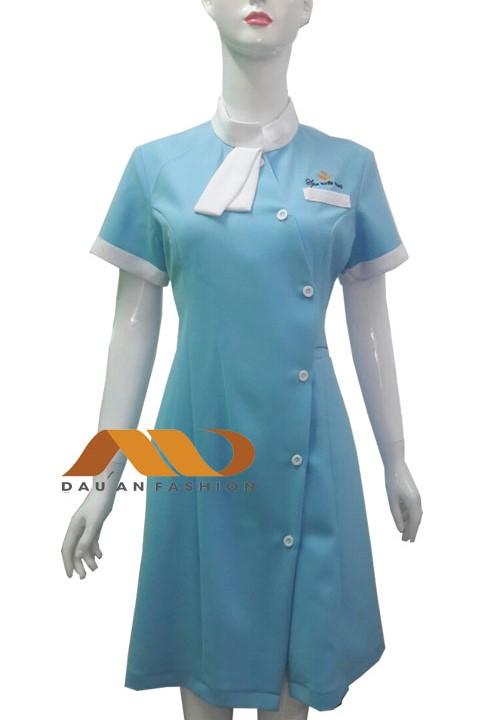 Đồng phục spa màu xanh dương
