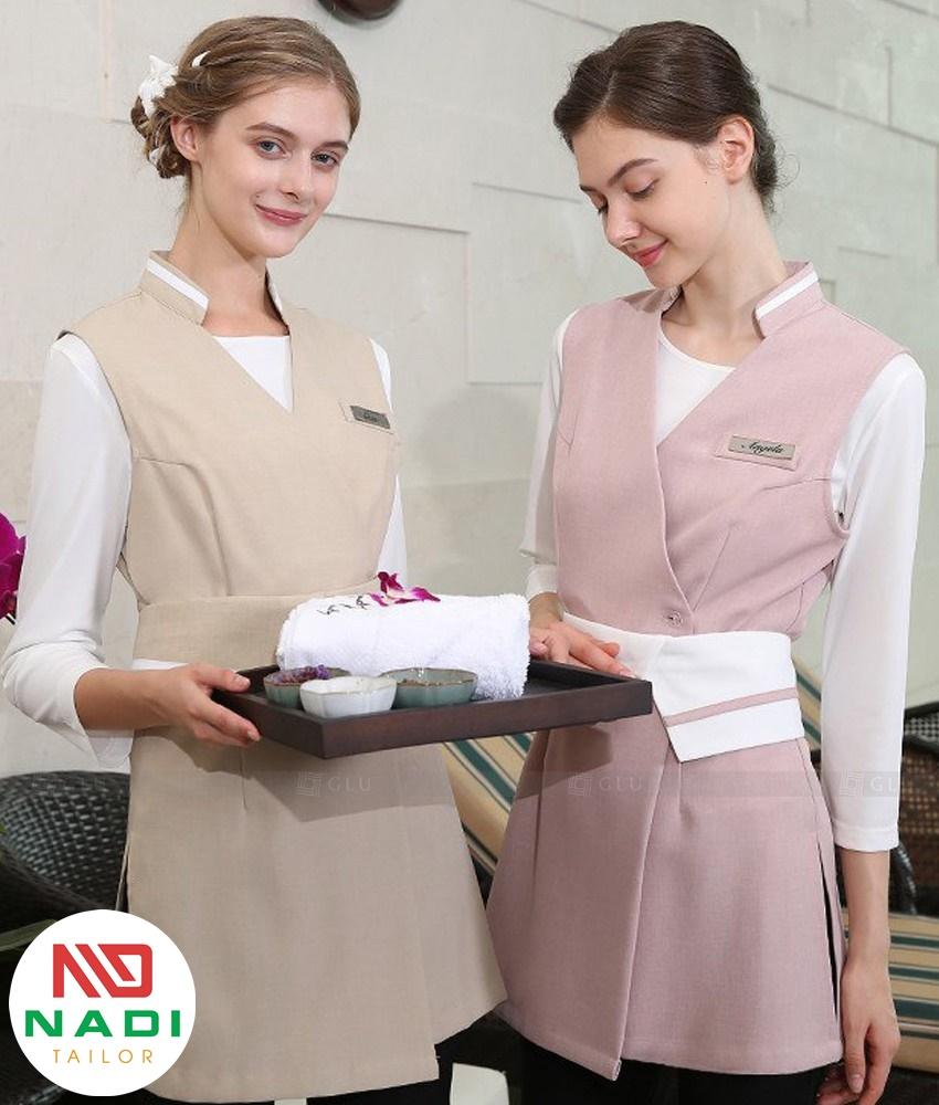 mẫu váy đồng phục spa