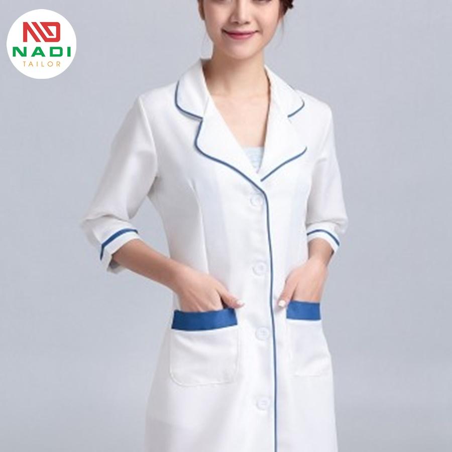 váy y tế kèm viền