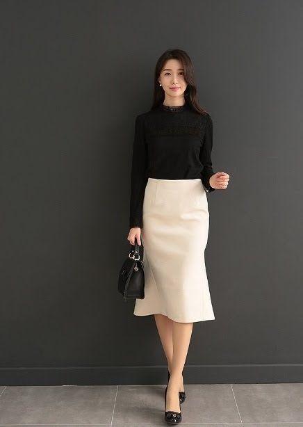 Chân Váy Công Sở Dáng Dài- Thay Đổi Phong Cách Cho Nàng