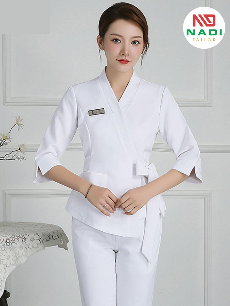 Đồng phục lễ tân spa 1