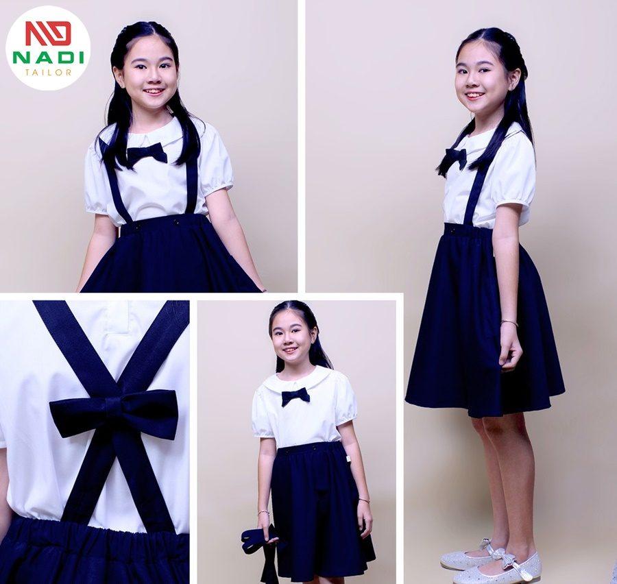 Sản xuất quần áo cho bé học sinh