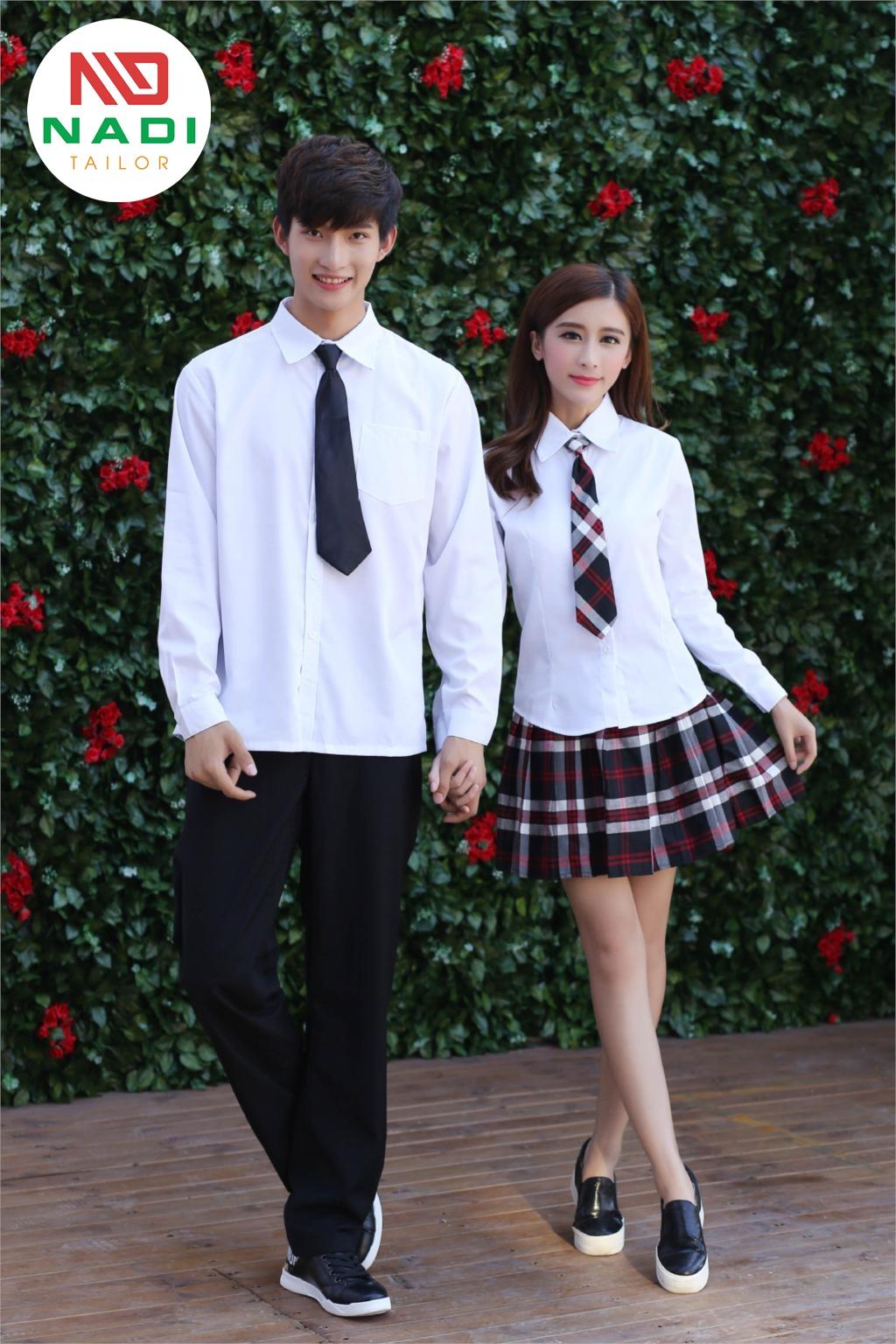 Mẫu đồng phục học sinh đẹp Hàn Quốc dành cho nam