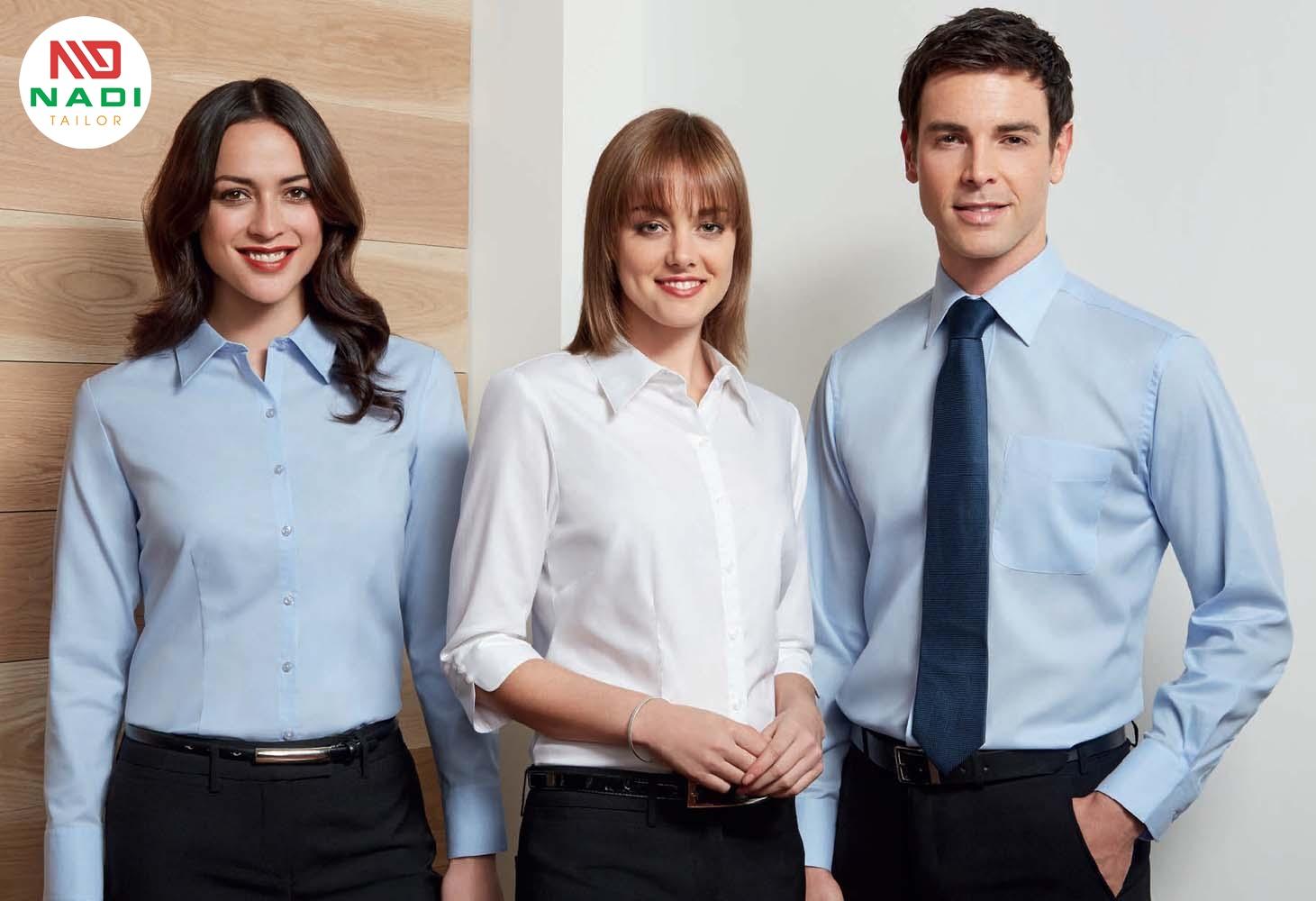 Lựa chọn mẫu áo sơ mi đồng phục công ty đẹp