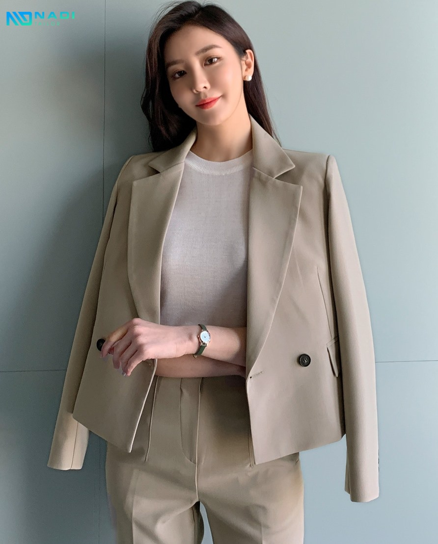 May đồng phục vest nữ công sở
